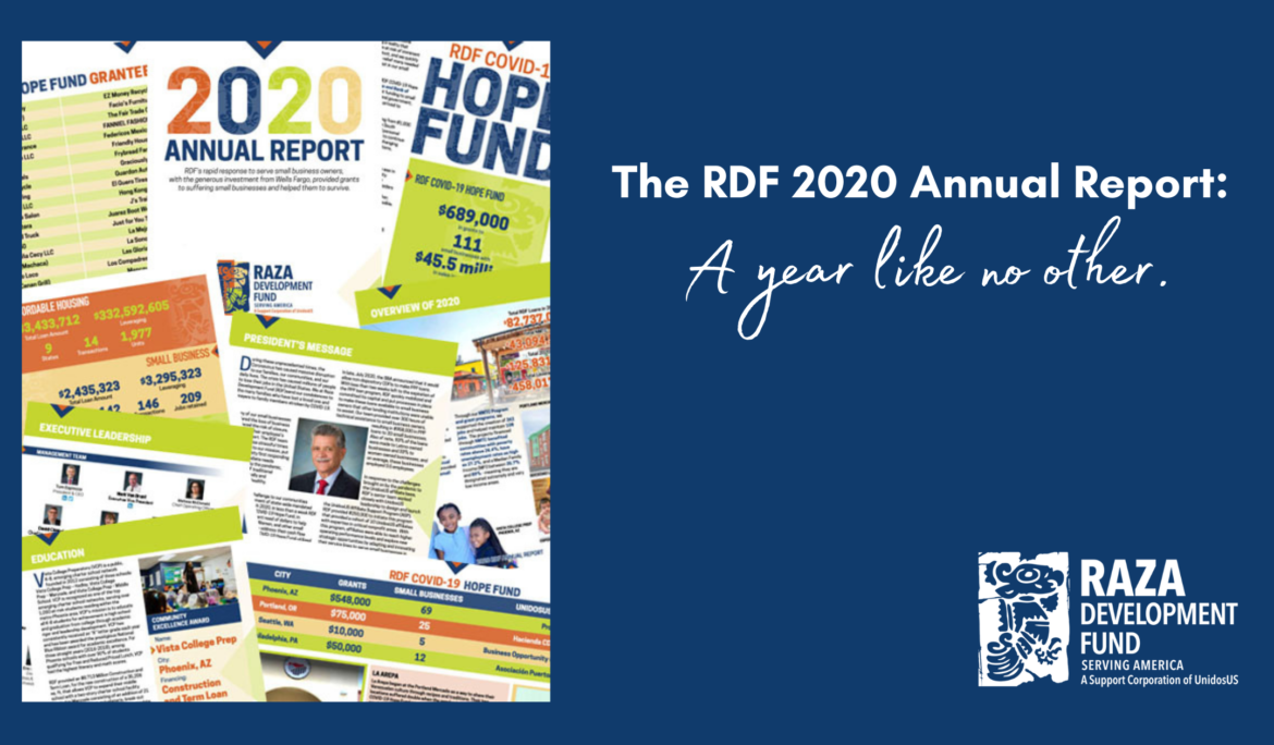 The RDF 2020 Annual Report: A year like no other!