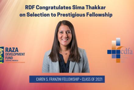 RDF Congratulates Sima Thakkar on Selection to Prestigious Fellowship